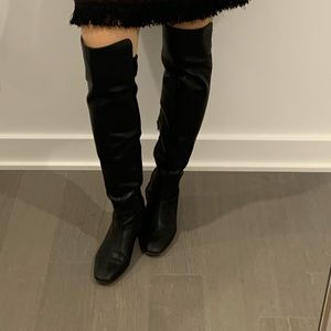 Over the knee leather boots!